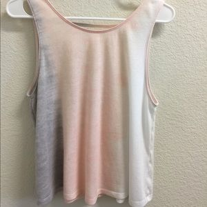 Hollister pastel tank with low back